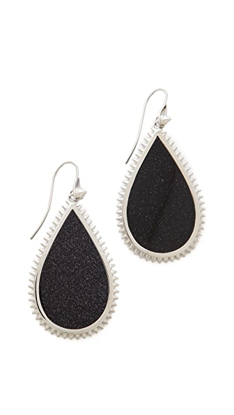 Eddie Borgo Inlaid Teardrop Slice Earrings