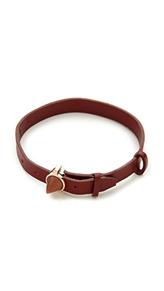 Eddie Borgo Inlaid Cone Leather Bracelet