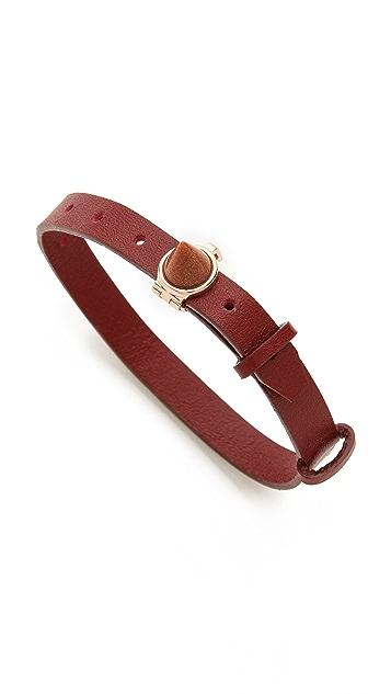 Eddie Borgo Inlaid Cone Leather Bracelet