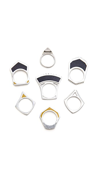 Eddie Borgo Tuareg Ring Set