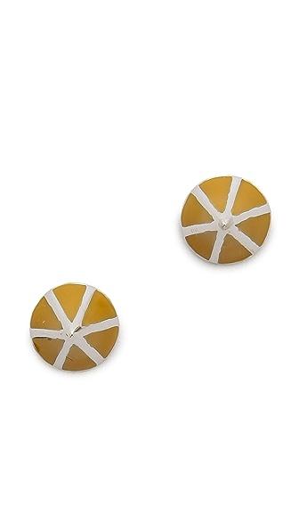 Eddie Borgo Lotus Cone Stud Earrings