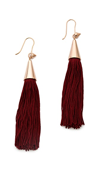 Eddie Borgo Small Silk Tassel Earrings