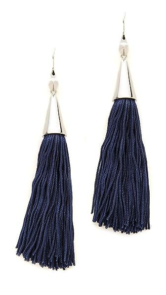 Eddie Borgo Small Silk Tassel Earrings