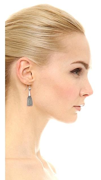 Eddie Borgo Small Chain Tassel Earrings