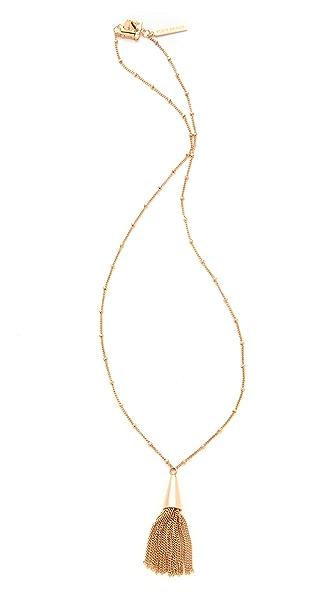Eddie Borgo Small Chain Tassel Pendant Necklace