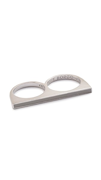 Eddie Borgo Two Finger Color Ring