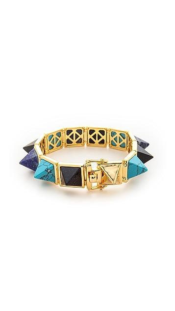 Eddie Borgo Gemstone Pyramid Bracelet