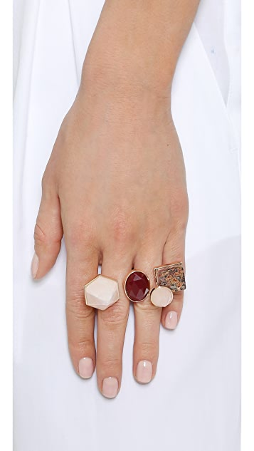 Eddie Borgo Two Finger Composition Ring