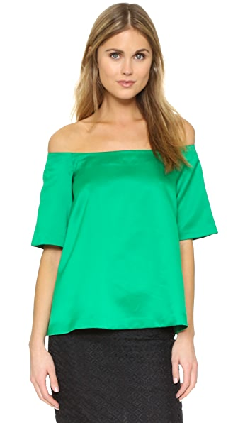 Edit Off Shoulder Top - Green