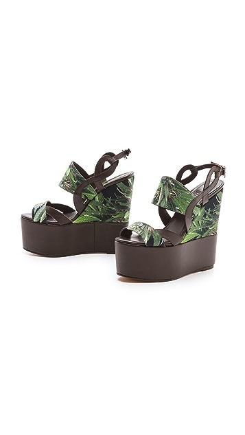 Edmundo Castillo Multicolor Wedge Sandals