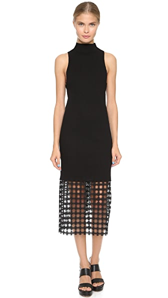 Edun Chain Lace Sleeveless Dress - Black at Shopbop