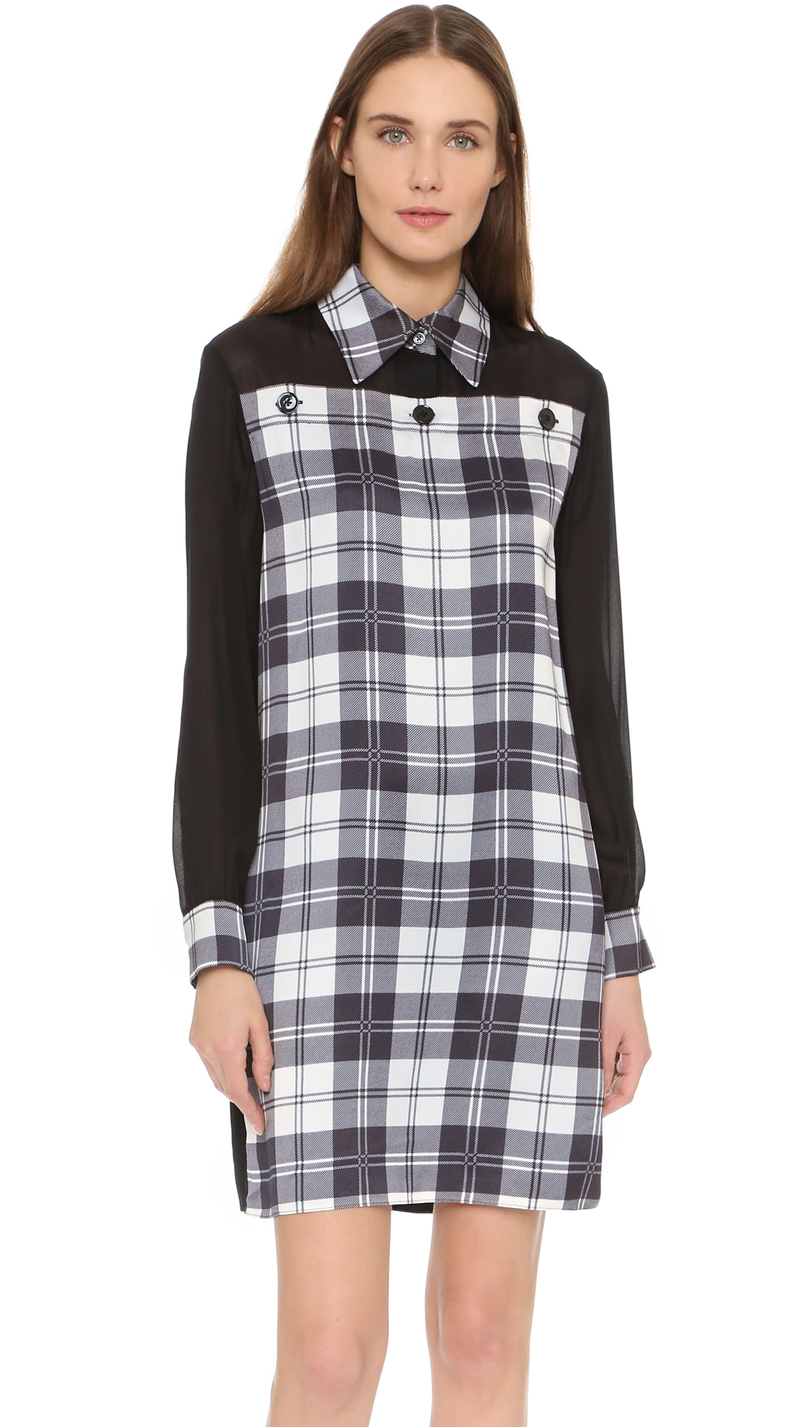 Edun Tartan Shirtdress - Black/White at Shopbop