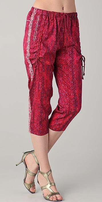 EDUN Weave Print Drawstring Pants
