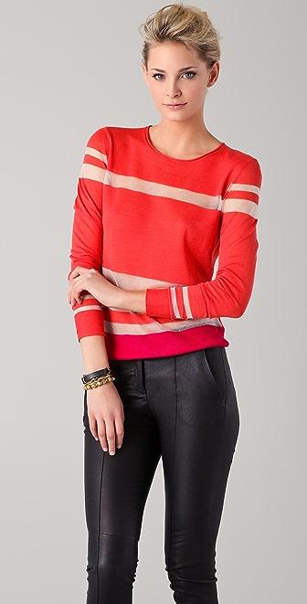 EDUN Color Blocked Stripe Sweater