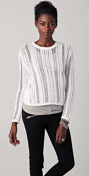EDUN Open Knit Sweater