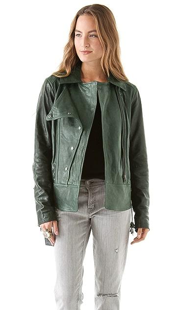 EDUN Leather Motorcycle Jacket