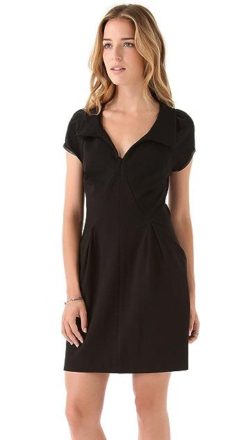 EDUN Short Sleeve Collared Dress