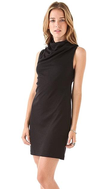 EDUN Zip Back Turtleneck Dress