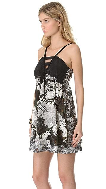 EDUN Crosshatch Camo Print Dress