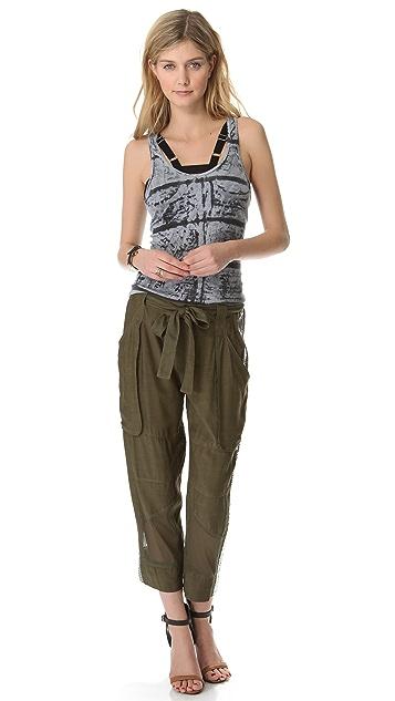 EDUN Sequin & Mesh Cargo Pants
