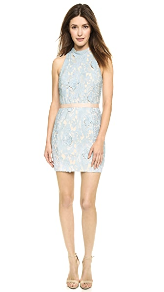 ENGLISH FACTORY Lace Mini Dress