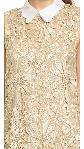 ENGLISH FACTORY Daisy Lace Shift Dress