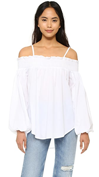 English Factory Off Shoulder Blouse - Off White