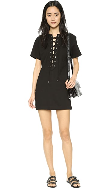 ENGLISH FACTORY Lace Up Dress