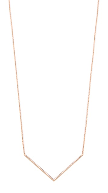 EF Collection 14k Rose Gold Chevron Necklace