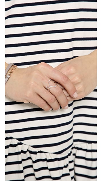 EF Collection Split Chevron Ring
