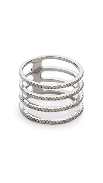 EF Collection Diamond Multi Spiral Ring