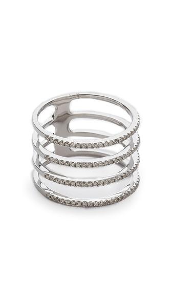 EF Collection Diamond Multi Spiral Ring