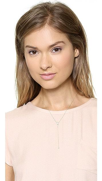 EF Collection Diamond White Topaz Lariat Necklace