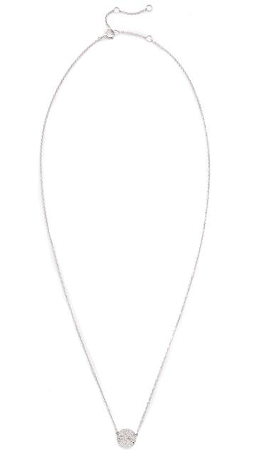 EF Collection Diamond Disc Necklace
