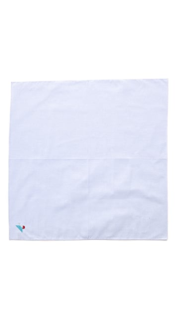 East Dane Gifts Embroidered Mt. Fuji Handkerchief