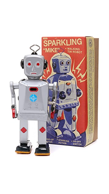 East Dane Gifts Sparkling Mike Robot