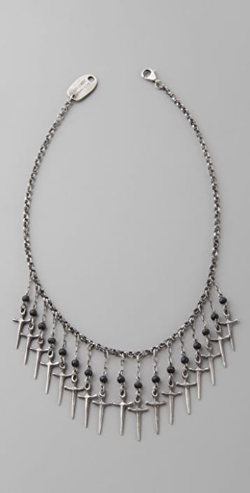 Elizabeth and James Multi Dagger & Onyx Chain Necklace