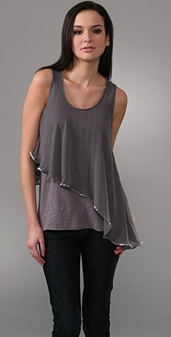 Elizabeth and James Beaded Drape Tank