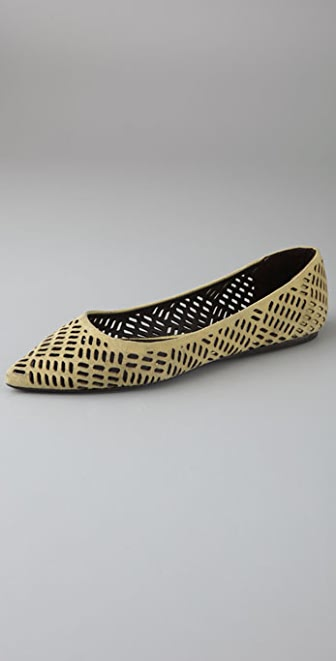 Elizabeth and James Lara Laser Cut Suede Flats