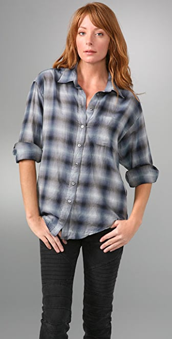 Elizabeth and James Laurent Plaid Shirt