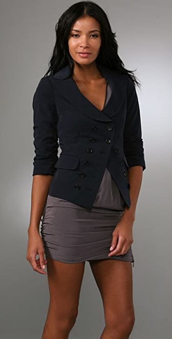 Elizabeth and James Double Breasted Blazer