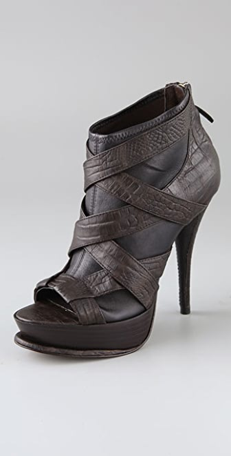 Elizabeth and James Miki Open Toe Platform Booties