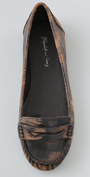 Elizabeth and James Mena Suede Moccasin Flats
