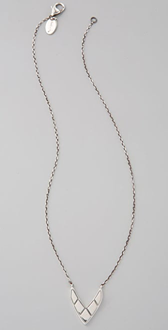Elizabeth and James Chevron Pendant Necklace
