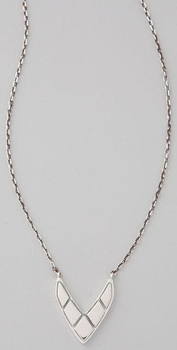 Elizabeth and James Chevron Pendant Necklace