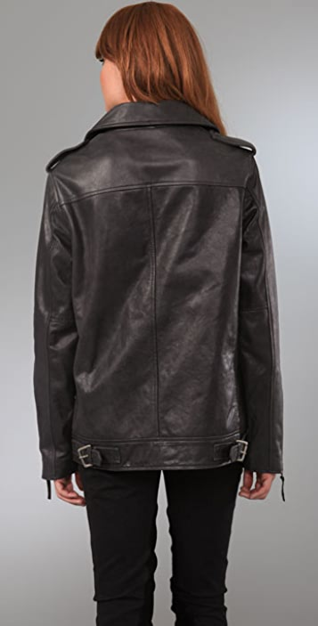 Elizabeth and James Boyfriend Biker Leather Jacket