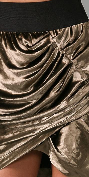 Elizabeth and James New Sculptors Velvet Skirt