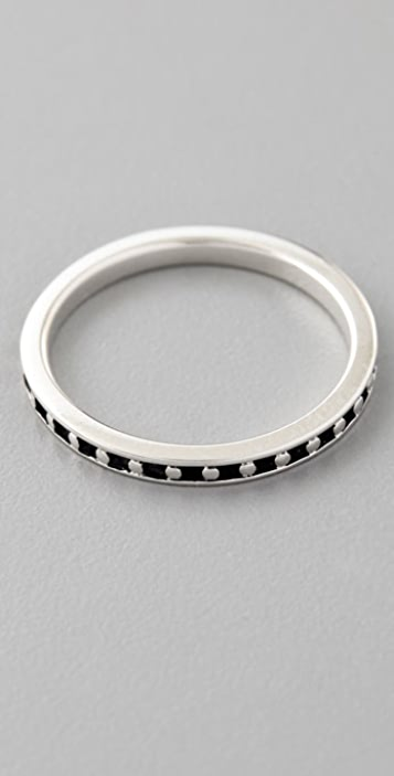 Elizabeth and James Studded Stackable Ring