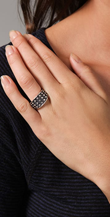 Elizabeth and James Studded Tapered Ring