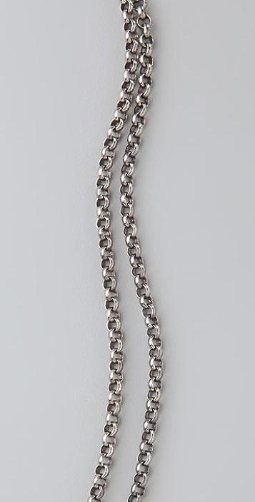 Elizabeth and James Droplet Lariat Necklace